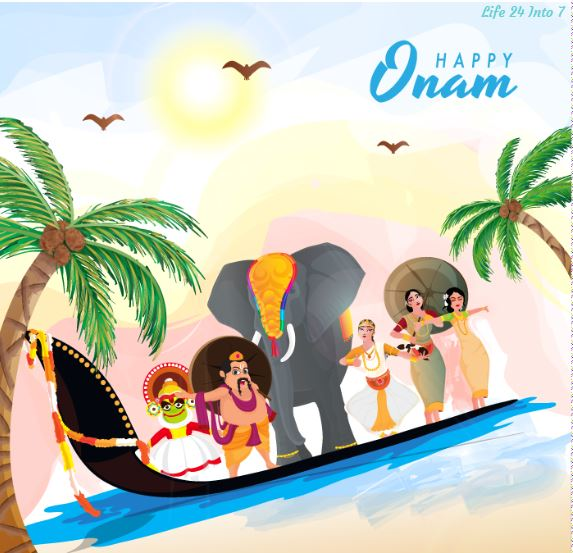 Happy Onam 2021:  Date, History, significance, Celebration, Rituals, 26 Dishes Feast, Wishes, Quotes, Messages, Greetings, Images, Banners, Posters, Drawings, Cards, Pictures