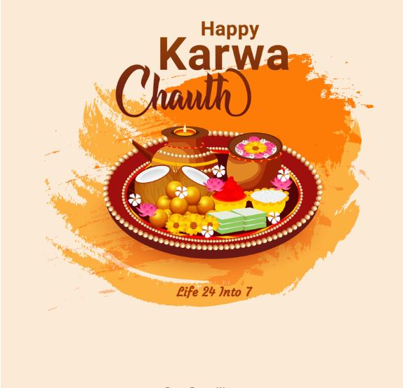 Karva Chauth 2021 – Date, History, Significance, Time, Shubh Muhurat, Wishes, Greetings, Messages, SMS, Status, Facebook And status Whatsapp Status, Posters, Images, Banners, Greetings cards, pictures